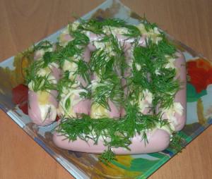 Сосиски фаршированные сыром