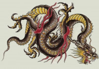 китайский черный дракон - символ нового 2012 года